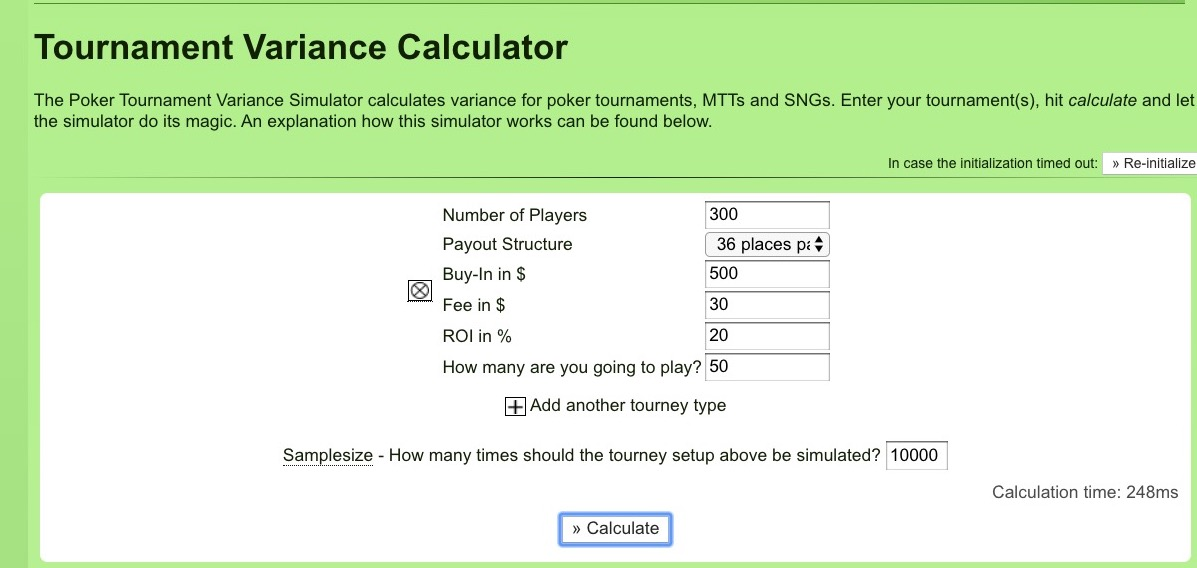 How to Use a Poker Variance Calculator in Tournaments
