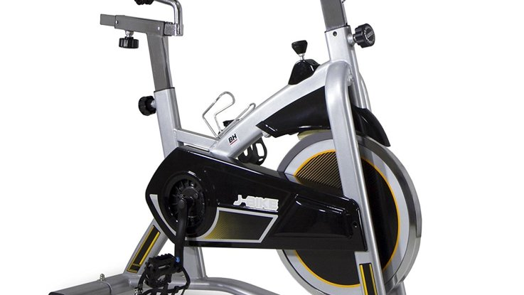 velo exercice spinning mkt j adulte gris argente marque bh fitness
