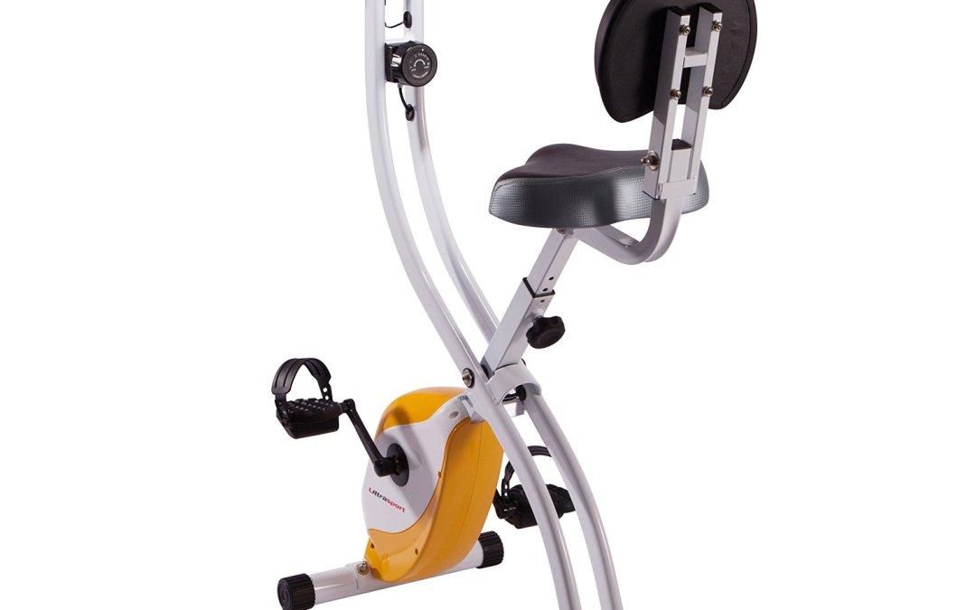 Test du Vélo d'appartement F – Bike , Vélo de fitness pliable avec console et détecteurs manuels de pouls de la marque Ultrasport