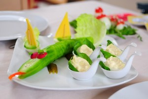 a plate of veggie dish