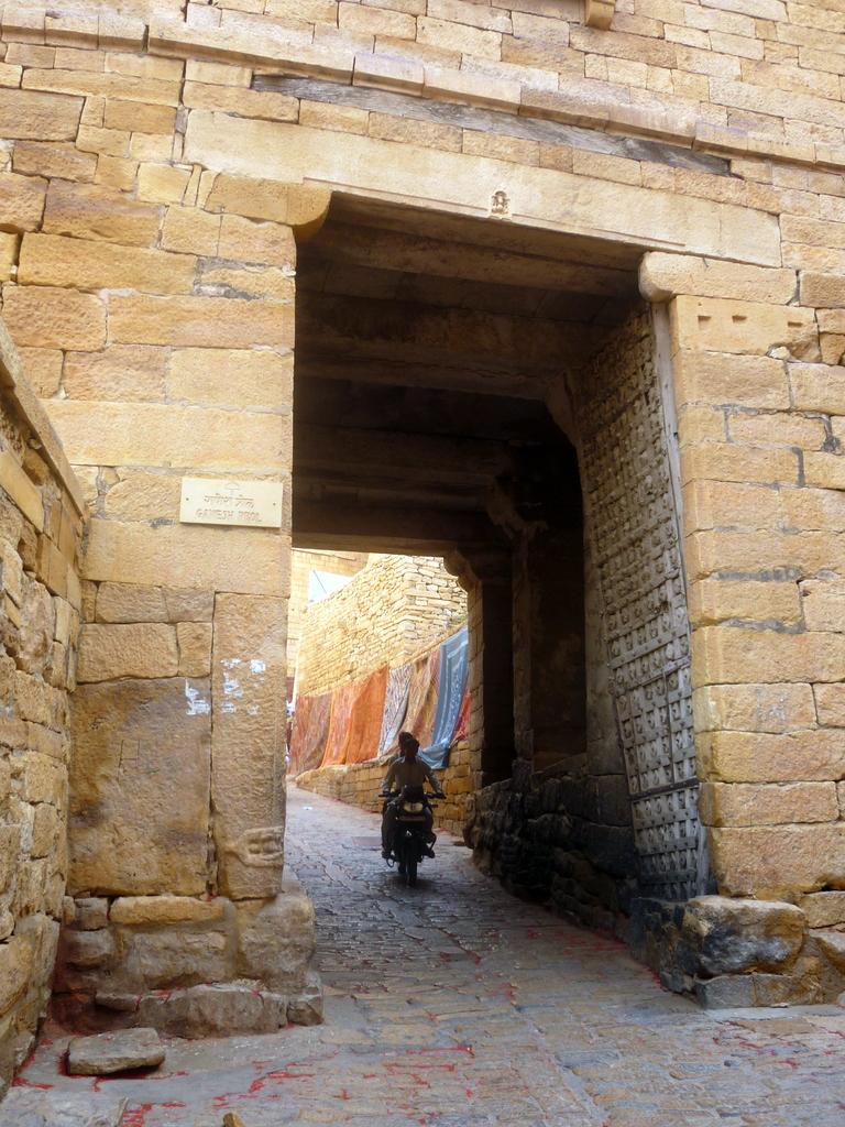 Les portes de la citadelle de Jaisalmer