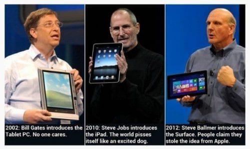tablette microsoft apple