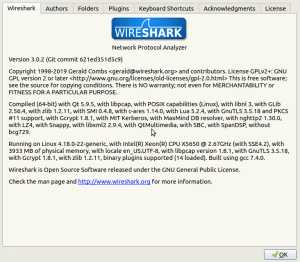 About Wireshark Information 3.0.2