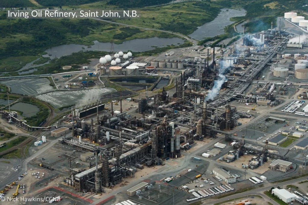 Who pollutes our climate the most in New Brunswick?