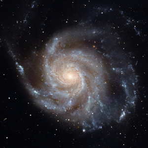 A spiral galaxy. In the Copernican universe as many of these should spin clockwise as counterclockwise