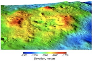 The Compton-Belkovich region, showing its silicate volcanoes