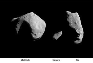 Three asteroids that sometimes make close approaches to earth