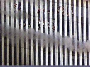 Office workers jump from the World Trade Center towers, September 11, 2001. Did a lone wolf group pull this off? Or is this an example of the threat of the religion of many wolves called Islam? Some say it's a false-flag pseudo-op, and political prisoners will soon follow.