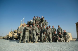 The 70th Medium Truck Detachment and other troops preparing to leave Iraq