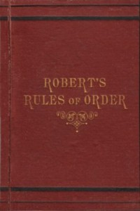 The Democrats cannot even follow Robert's Rules of Order