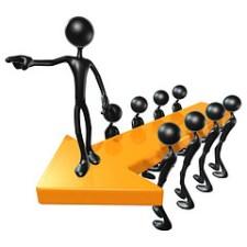 3D Team Leadership Concept