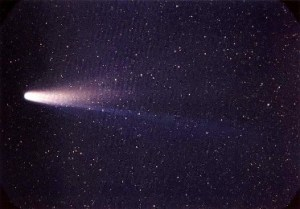 Comet Halley was launched during the Global Flood