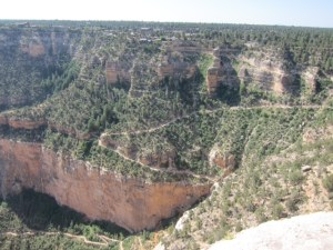 The Blue Angel Trail along the Grand Canyon