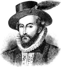 Sir Walter Raleigh, first architect of English settlement of America