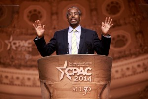 """Ben Carson at CPAC 2014. He might rank among the """"preliminary candidates"""" dropping out early."""
