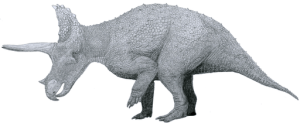 Triceratops horridus as a scientist thinks it might have looked.