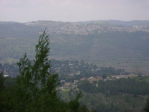 Jerusalem from Yad VaShem: at least one modern Chief of Staff understands the stakes this view symbolizes.