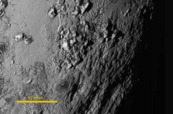 Mountains on Pluto. Young mountains.