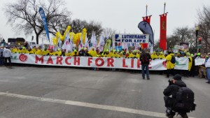 March for Life 2016, front banner