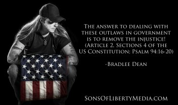 The answer to dealing with outlaws in government is to remove the injustice.