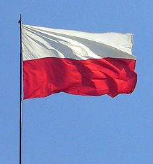 Flag of Poland. Note its simple colors.