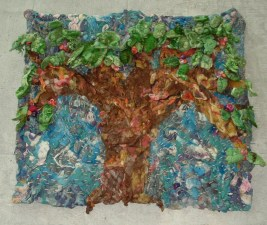 The Giving Tree as a tapestry in felt.