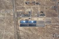 A solar power plant near Palmdale, California
