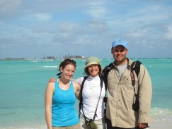 The rest of the New Jersey Piping Plover Team in the Bahamas, Emily Heiser, Christina Davis, Tom Reed (l to r)