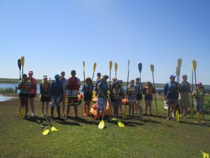 The group getting ready to Kayak (c) Stephanie Feigin
