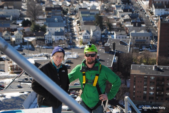 Kathy and I atop the Union County Courthouse. Photo by Betty Ann Kelly.
