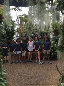 Campers explored the Orchid Range and saw a collection of plants from all over the world.