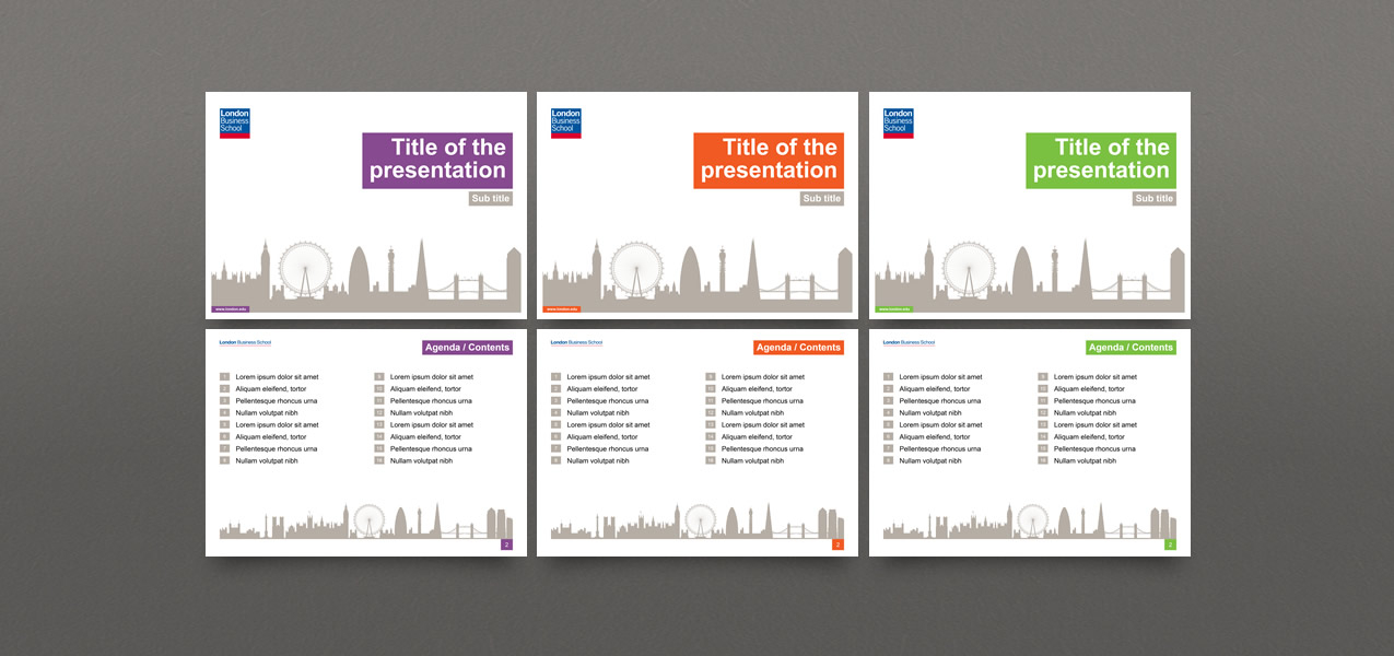 Powerpoint Template Design For London Business School