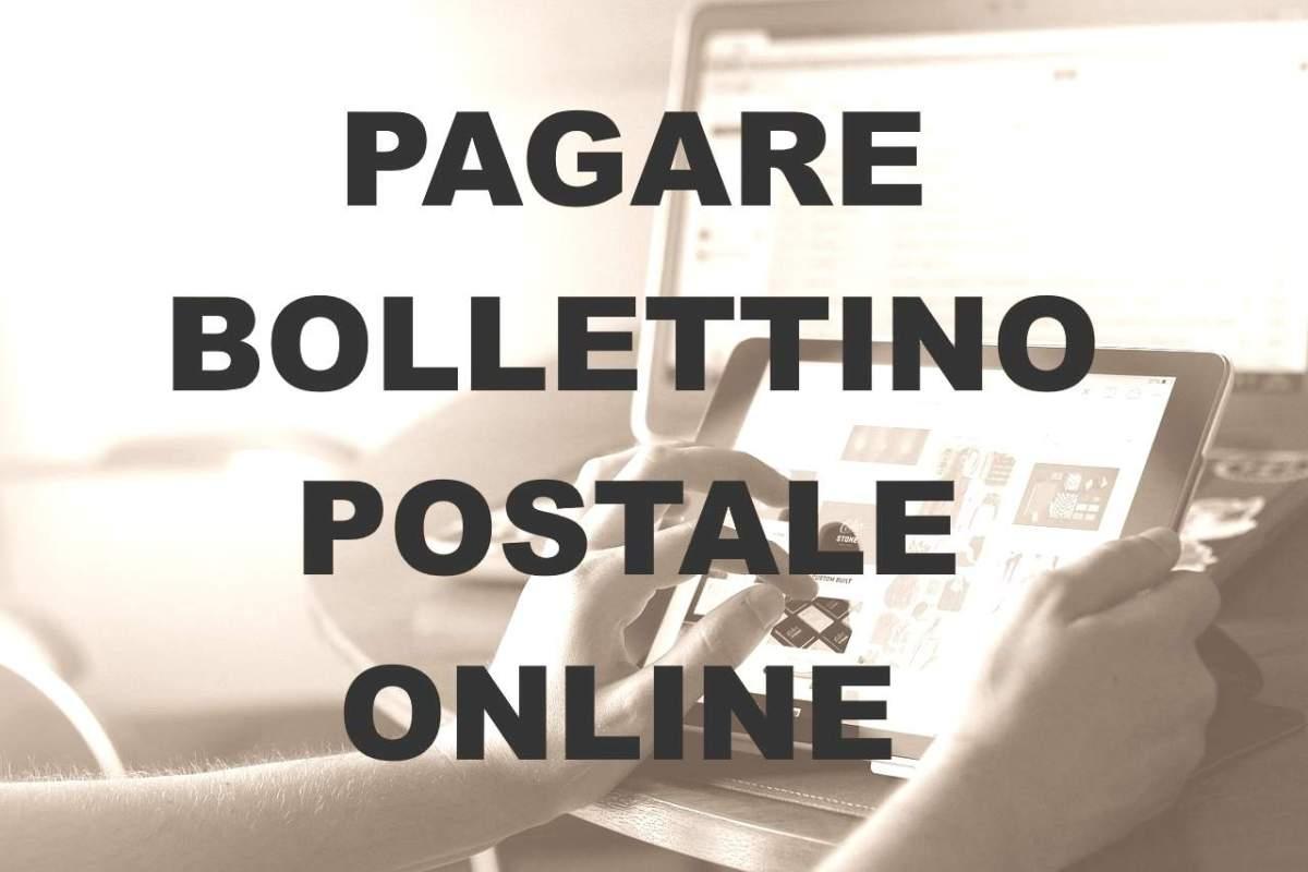 Come pagare un bollettino postale online con la banca.