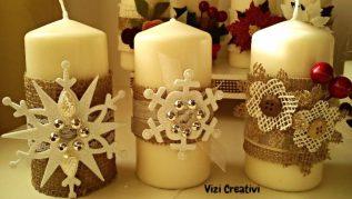candele di natale fai da te