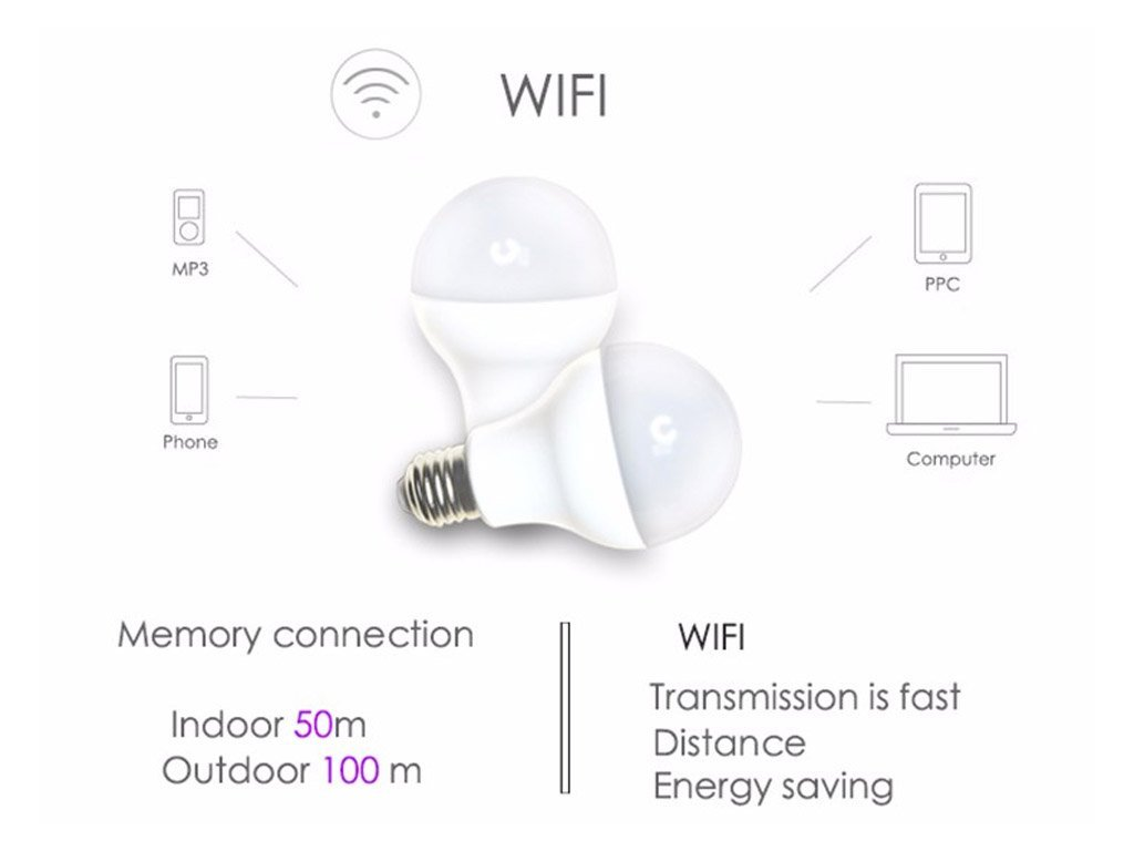 Smart Led Bulb With Mobile Application For Setting Of Colors 7w 9w Free Shipping