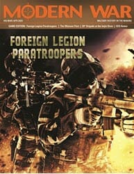 Modern War, Issue 46: Foreign Legion Paratrooper  (new from Decision Games)