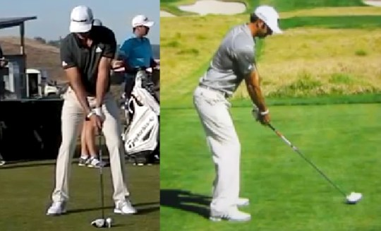 Dustin Johnson Golf Swing Analysis   ConsistentGolf com When I was analyzing Dustin s golf swing I noticed he does something a bit  odd with his hands to start the swing  As he goes to start the swing he  moves his