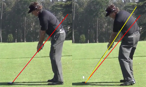 Phil Mickelson golf swing