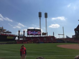On the field at Great American Ball Park
