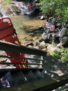 Exit to sliding rock pool