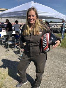 Firesuit and helmet for racing
