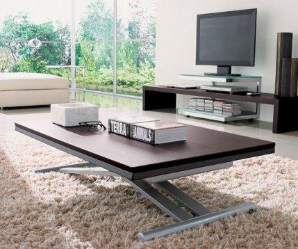 table basse relevable en bois