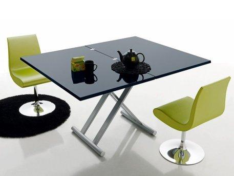 table basse noire extensible