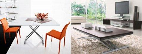table basse relevable moderne imitation bois