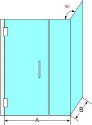 format dimensions porte de douche