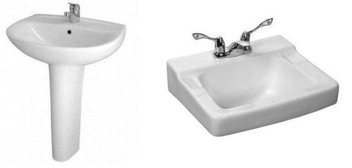 installer un lavabo sur colonne ou suspendu