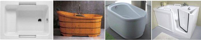 types et modèles de petite baignoires