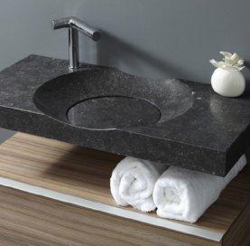 vasque en granit noir de salle de bain