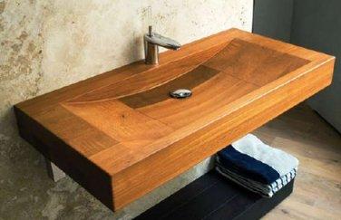 vasque rectangulaire en bois