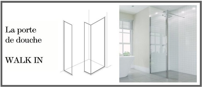 portes de douche walk in